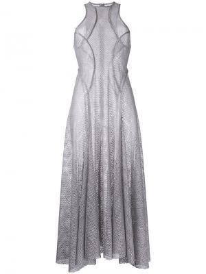 Платье Lace Cosmopolitan Bianca Spender. Цвет: серый
