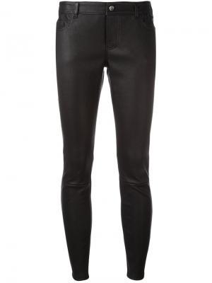 Укороченные обтягивающие брюки Desa 1972. Цвет: чёрный