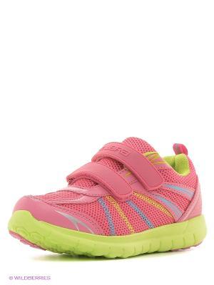 Полуботинки школьные кроссовые Зебра. Цвет: малиновый