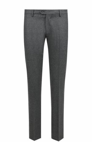 Шерстяные брюки прямого кроя Berwich. Цвет: серый