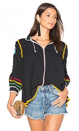 Блуза с вышивкой крошё oaxaca Carolina K. Цвет: черный