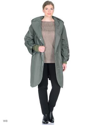 Пальто VIKO. Цвет: серо-зеленый