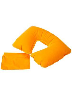Надувная подушка под шею в чехле Дерево Счастья. Цвет: желтый
