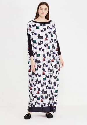 Платье Adzhedo. Цвет: черно-белый