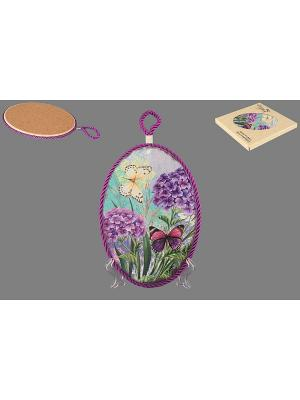 Подставка под горячее Сирень и бабочки Elan Gallery. Цвет: фиолетовый, зеленый, голубой, сиреневый