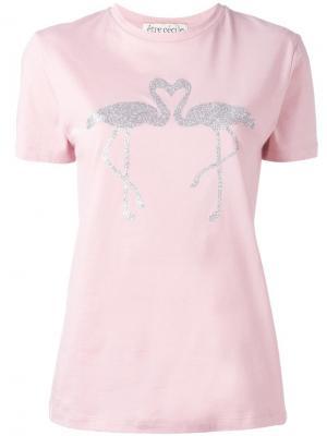 Flamingo metallic print T-shirt Être Cécile. Цвет: розовый и фиолетовый