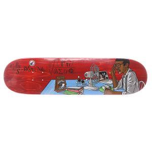 Дека для скейтборда  Pfanner Fan Nerd 32 x 8.1 (20.6 см) Antihero. Цвет: красный,мультиколор