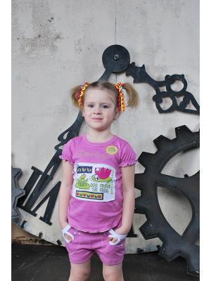 Джемпер с коротким рукавом ZEBRA KIDS. Цвет: сиреневый