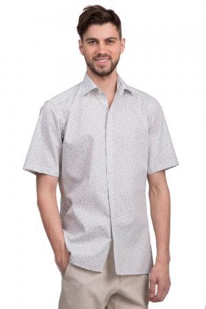 Рубашка с коротким рукавом Olymp. Цвет: серый
