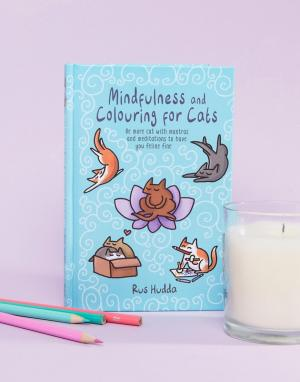 Books Книга Mindfulness and Colouring For Cats. Цвет: мульти