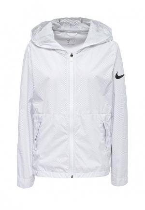 Ветровка Nike. Цвет: белый