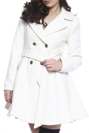 Пальто Moda di Chiara. Цвет: белый