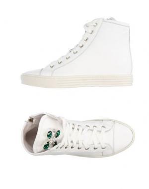 Высокие кеды и кроссовки GENEVE. Цвет: белый