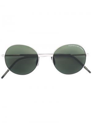 Круглые солнцезащитные очки Porsche Design. Цвет: металлический