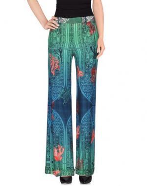 Повседневные брюки PICCIONE•PICCIONE. Цвет: светло-зеленый