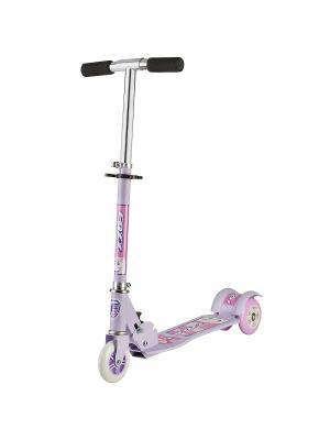 Самокат городской Foxx Smooth Motion сталь PVC колеса 100мм ABEC-7. Цвет: фиолетовый