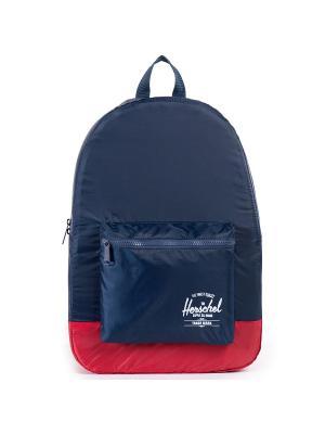 Рюкзак PACKABLE DAYPACK (A/S) Herschel. Цвет: темно-синий,красный