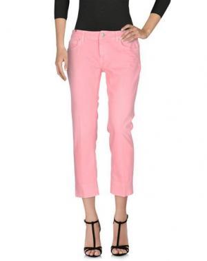 Джинсовые брюки NOTIFY. Цвет: розовый