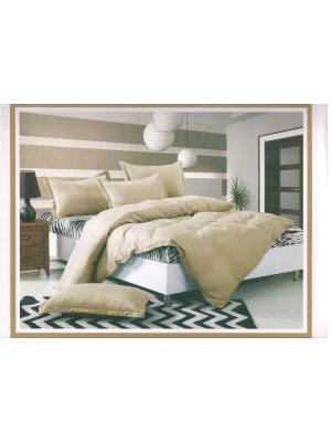 Комплект постельного белья, евро. La Pastel. Цвет: черный,кремовый,белый