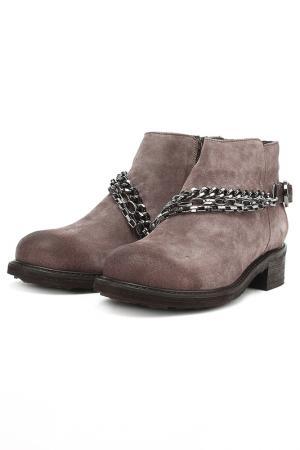 Ботинки с металлическим декором Dino Ricci. Цвет: светло-коричневый