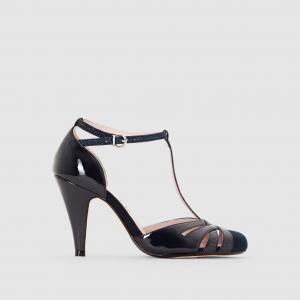Туфли на каблуке с ремешком MADEMOISELLE R. Цвет: телесный,темно-синий,черный