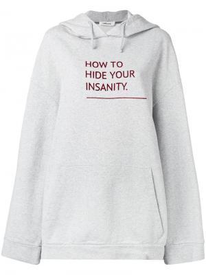 Printed hoodie Circus Hotel. Цвет: серый