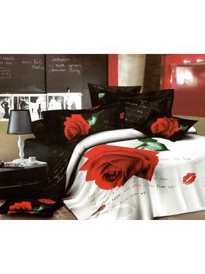 Комплект постельного белья, 1,5 спальный Sofi de Marko. Цвет: черный, красный, белый