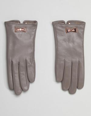 Ted Baker Перчатки с бантами. Цвет: серый
