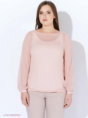 Блузка Yarmina. Цвет: бледно-розовый