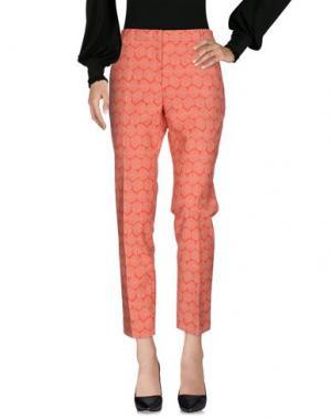 Повседневные брюки PESERICO SIGN. Цвет: коралловый