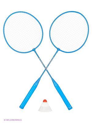 Набор бадминтонный (2 ракетки, волан, чехол) Start Up. Цвет: синий, белый