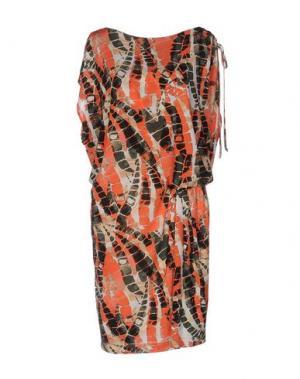 Короткое платье ROBERTA SCARPA. Цвет: коралловый
