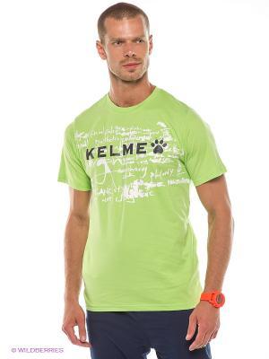 Футболка KELME. Цвет: салатовый