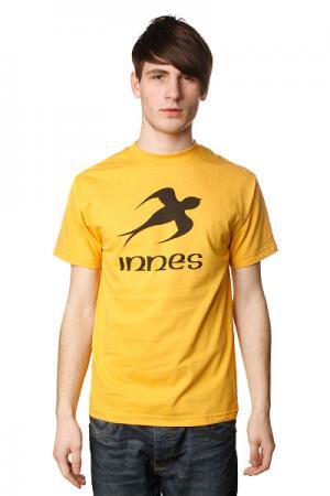 Футболка  Simple Mustard Innes. Цвет: желтый