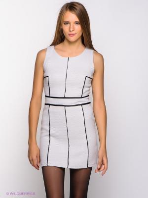 Платье Befree. Цвет: светло-серый, черный