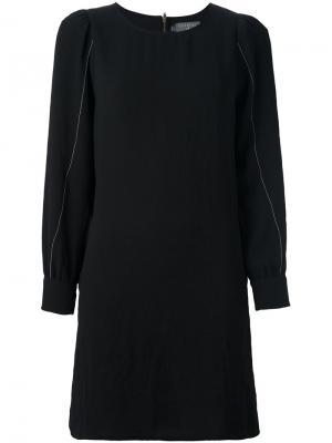 Платье с длинными рукавами Cotélac. Цвет: чёрный