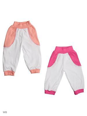 Брюки Babycollection. Цвет: оранжевый, розовый