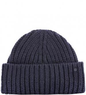 Синяя шерстяная шапка Marc O'Polo. Цвет: синий