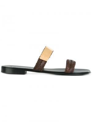 Сандалии Len Giuseppe Zanotti Design. Цвет: коричневый