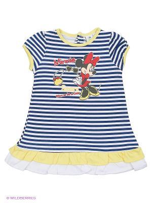 Платье Sun City. Цвет: синий, желтый