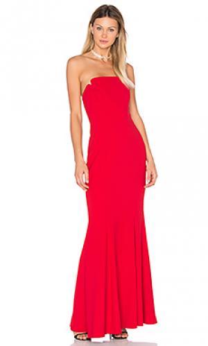 Вечернее платье без бретелек JILL STUART. Цвет: красный