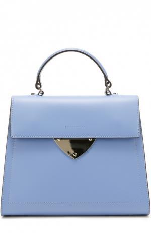 Кожаная сумка B14 Coccinelle. Цвет: синий