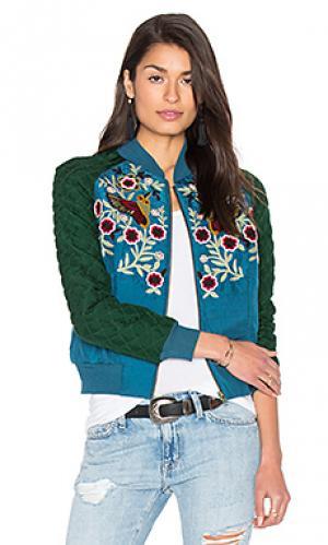Куртка statement HEMANT AND NANDITA. Цвет: сине-зеленый