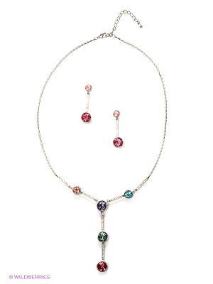 Комплект Happy Garnets. Цвет: красный, голубой, фиолетовый