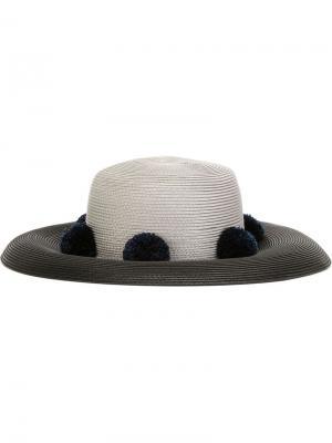 Шляпа с помпонами  for 711 Saturn Eshvi. Цвет: чёрный