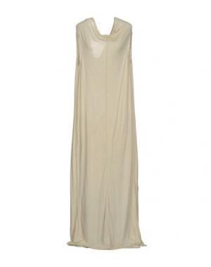 Длинное платье RICK OWENS LILIES. Цвет: бежевый