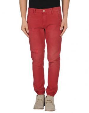 Повседневные брюки ROCK 'N' ROLL. Цвет: кирпично-красный