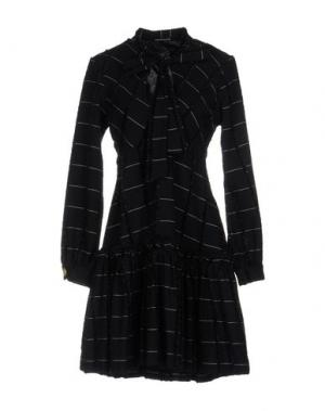 Короткое платье NINEMINUTES. Цвет: темно-синий