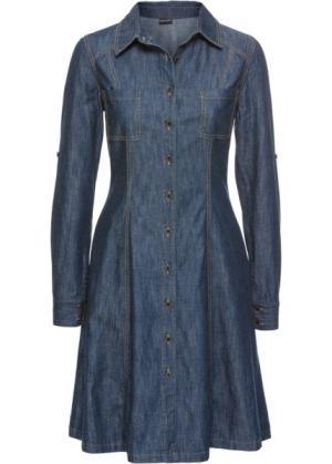 Джинсовое платье (индиго) bonprix. Цвет: индиго