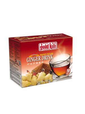 Быстрорастворимый имбирный напиток с коричневым сахаром  180 г Gold Kili. Цвет: темно-бежевый